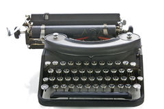 Vintage portable typewriter front view Royalty Free Stock Photography