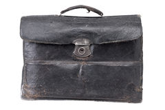Vintage portfolio (briefcase). Old vintage portfolio (briefcase), isolated on white Stock Image