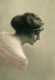 Vintage portrait. Stock Image