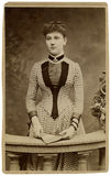 Vintage portrait. Vintage portrait of a young girl. The shot was taken around 1887 Stock Photos