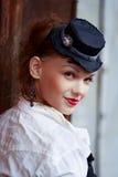 Vintage portrait of beautiful woman Stock Images