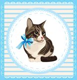 Vintage portrait of the cat Royalty Free Stock Photography