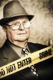 Vintage portrait of a crime detective Stock Images