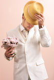 Vintage portrait of groom Royalty Free Stock Photo