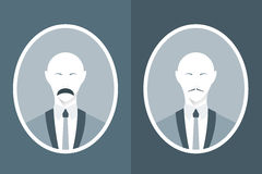 Vintage portrait of man in suit with mustache. Stock Images