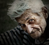 Vintage portrait of senior man with wisdom smile Royalty Free Stock Images