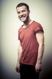 Vintage portrait of smiling fashion guy Stock Photo
