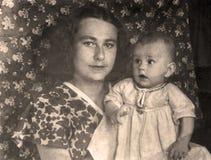 Vintage portrait,1951 year. Stock Images