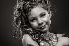 Vintage portrait of young girl Royalty Free Stock Images