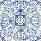 Vintage portuguese blue tiles. Vintage portuguese blue and white tiles Stock Photo