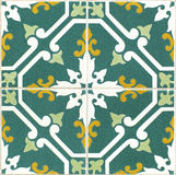 Vintage portuguese green tiles. Vintage portuguese green and white tiles Stock Photography