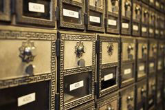 Vintage Post Boxes Royalty Free Stock Photography