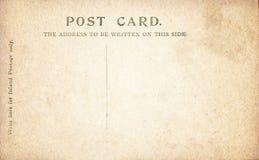 Vintage Post Card back. Stock Photo