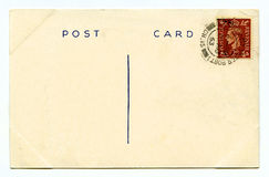 Vintage Post Card Stock Photo