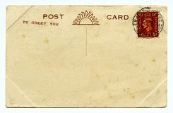 Vintage Post Card Royalty Free Stock Images