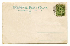 Vintage Post Card. A vintage postcard over a plain white background Stock Photography