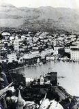 Vintage post card from split, croatia Stock Image