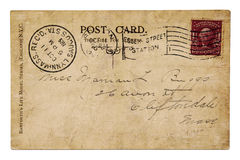 Vintage post card year 1905 Royalty Free Stock Images