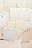 Vintage post cards backdrop Stock Photos