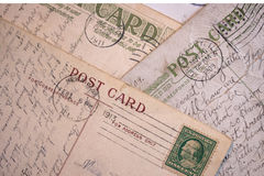 Vintage Post Cards - Background Royalty Free Stock Images