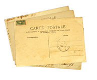Vintage post cards Stock Images