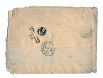 Vintage post letter, WWII, 1943. Royalty Free Stock Photo