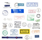 Vintage post marks Stock Photo
