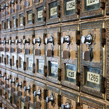 Vintage post-office boxes Stock Images