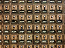 Vintage post-office boxes Stock Photo
