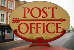 Vintage Post Office Sign Stock Image