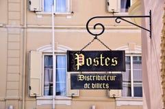 Vintage post sign, Monaco principality Royalty Free Stock Image