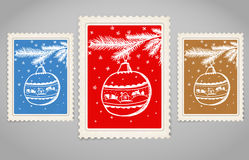 Vintage post stamp set Royalty Free Stock Photo