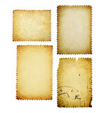 Vintage post stamps, isolated. Royalty Free Stock Photo