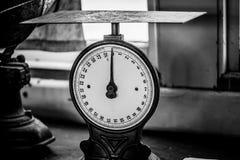 Vintage postage scale. Vintage postage scale in black and white Royalty Free Stock Photos