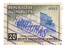 Vintage postage stamp. Honduras postage stamp on white background Royalty Free Stock Images