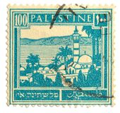 Vintage postage stamp. Palestine postage stamp on white background Stock Image