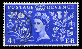 Vintage Postage Stamp Celebrating Queen`s Coronation Royalty Free Stock Images