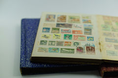 Vintage postage stamp collection Stock Photo