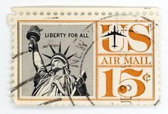 Vintage postage stamp US Airmail Stock Images