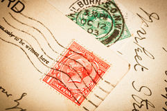 Vintage postage stamps Royalty Free Stock Photos
