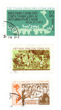 Vintage postage stamps from Vietnam Royalty Free Stock Photos