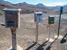 Vintage postal mailboxes Royalty Free Stock Images