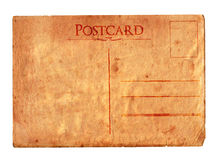 Vintage postcard 01. A vintage torn postcard. Check my portfolio for a stamped and sealed version royalty free stock images