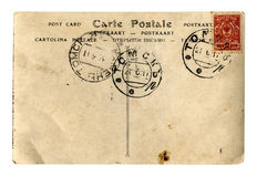Vintage postcard. A old vintage 1917 year postcard royalty free stock images