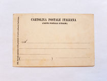 Vintage postcard. Italian vintage postcard from the first half of the 20th century royalty free stock photography