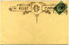 Vintage postcard. Dating back to 1915, with postage stamp from the Union of South Africa stock photography