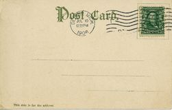 Vintage postcard 1906. Vintage postmarked postcard 1906 Royalty Free Stock Photo