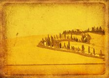 Vintage postcard. With classical tuscan view Stock Photo
