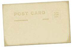 Vintage Postcard. A nice vintage postcard backing Stock Photography