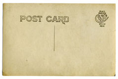 Vintage postcard. Blank space for text, isolated on white Royalty Free Stock Photos